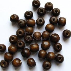 مهره چوبی قهوه ای سایز کوچک