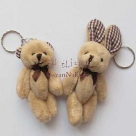 عروسک خرس و خرگوش مینی (رنگبندی)