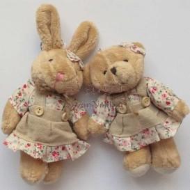 عروسک خرس و خرگوش (دختر و پسر)