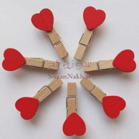 گیره چوبی قلبی
