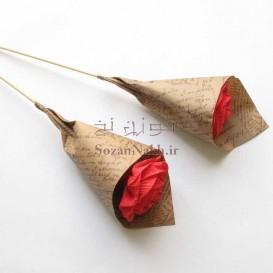 شاخه گل رز کاغذی _ کد1
