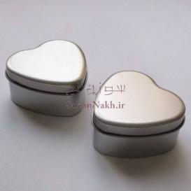 قوطی فلزی قلب ساده