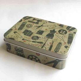 جعبه خیاطی کوچک فلزی - کد 100