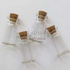 بطری شیشه ای با درب چوب پنبه 4.5*2.2 سانتی متر