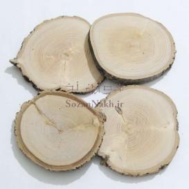 برش چوب یک سانتی نامتقارن یا لکه دار