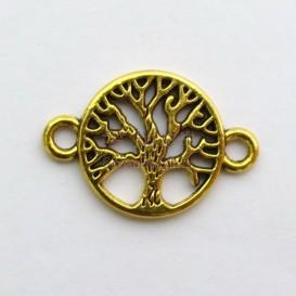 پلاک دستبند زرده قلم طرح درخت