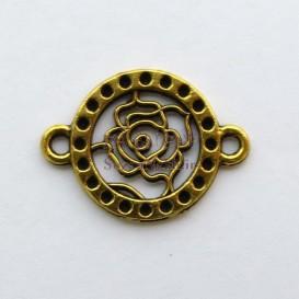 پلاک دستبند زرده قلم گل رز