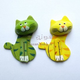 گربه چوبی سه بعدی