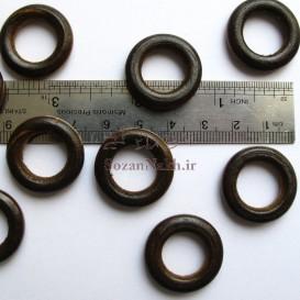 حلقه چوبی قهوه ای سایز کوچک