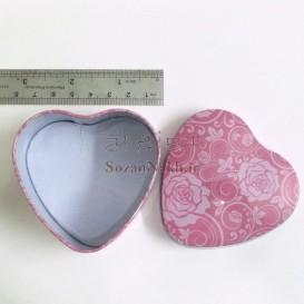 قوطی فلزی قلب  کد 2