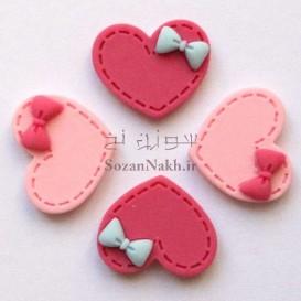 قلب پلاستیکی پاپیون دار