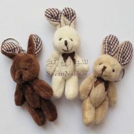 عروسک خرس و خرگوش مینی (رنگبندی)_کد1