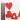 قلب چوبی قرمز ساده چسب دار
