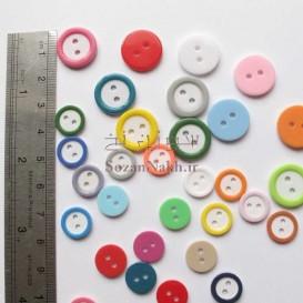 دکمه گرد با لبه رنگی