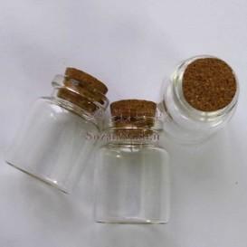 بطری شیشه ای دهانه بزرگ  4*3 سانتی متر