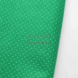 نمد 2 میل خالدار ریز- سبز با خال سفید