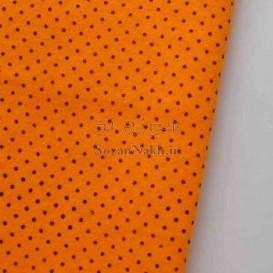نمد 2 میل خالدار ریز- نارنجی با خال مشکی