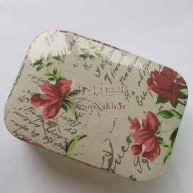 جعبه خیاطی طرح گل رز و دست نوشته