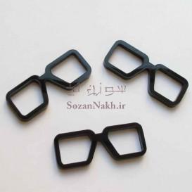 عینک کوچک با فریم مربع