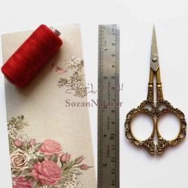 قیچی کوچک با دسته گلدار