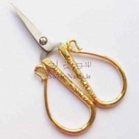 قیچی کوچک دسته طلایی
