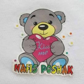 برچسب اتویی _خرس خاکستری Nafis Poshak