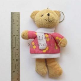 عروسک خرس با پیراهن آلبالو گیلاس