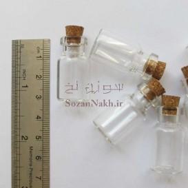 بطری شیشه ای با درب چوب پنبه 3*1.5 سانتی متر