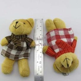 عروسک خرس با لباس زمستانی