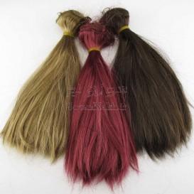 موی عروسک 20 سانتی صاف (باز شده از کلاه گیس)