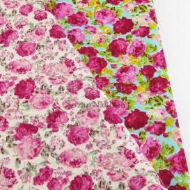 پارچه کتان نخ بروجرد طرح گل رز_ کد 315