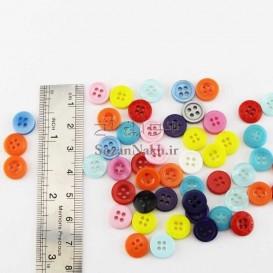 دکمه رنگی (چهار سوراخ)