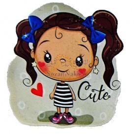 برچسب اتویی _ دختر بچه  Cute کد 16