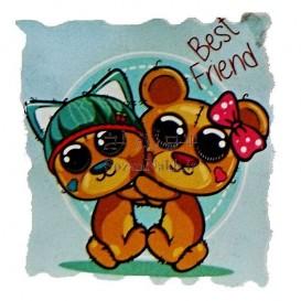 برچسب اتویی _ خرس Best Freind کد 26