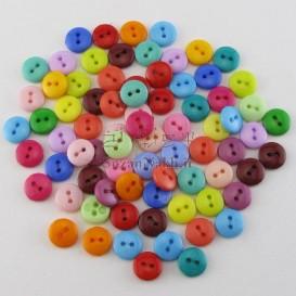 دکمه رنگارنگ کوچک (دو سوراخه)
