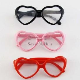 عینک کوچک عروسک فریم قلب _ کد 5