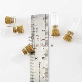 بطری شیشه ای کوچک کپسولی 1*2.2 سانتی متر