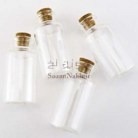 بطری شیشه ای با درب چوب پنبه 6*2.9 سانتی متر