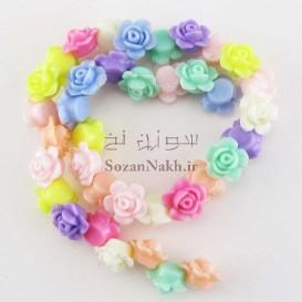 مهره گل پلاستیکی رنگی
