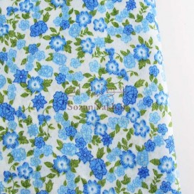 پارچه نخی چادر نمازی گل _ کد 323