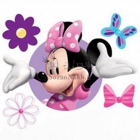 برچسب اتویی _ مینی ماوس و گل و پروانه کد 61