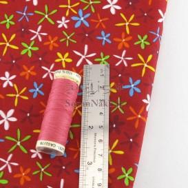 پارچه کتان نخ فیلور گل ستاره ای _ کد 336