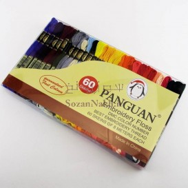 پکیج نخ گلدوزی پنگوئن 60 رنگ