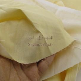پارچه کتان نخ ایرانی نخودی رنگ
