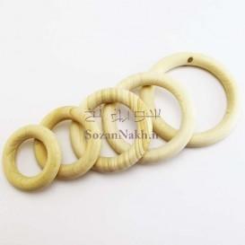 حلقه چوبی خام بدون رنگ