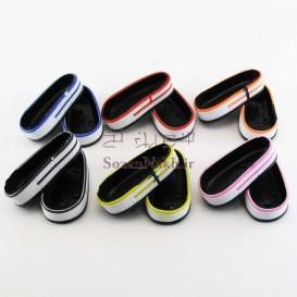 زیره کفش آل استار سفید با خط رنگی سایز 6