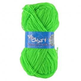 کاموا اکریل تاب (پوپی) سبز فسفری _ کد 247