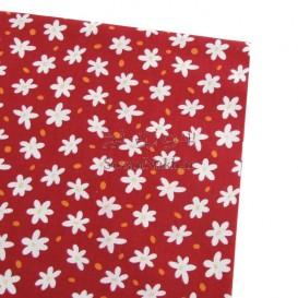 پارچه کتان نخ فیلور گل ستاره ای _ کد